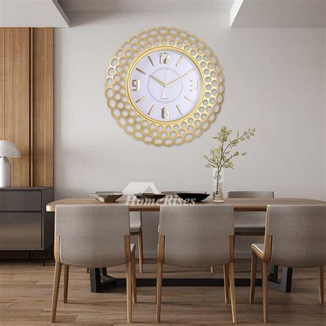 oversized   wall clock  plastic glass rose gold