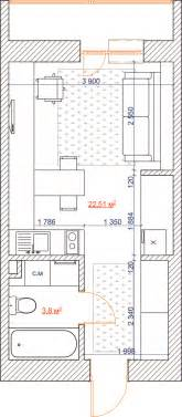 Inspiring home designs under 300 square feet with floor plans