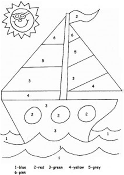sailboat numbers transportation worksheet for kids crafts and worksheets
