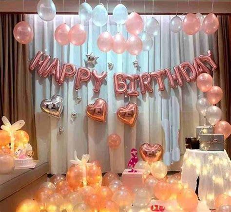 romantic surprise birthday decoration ideas  wife