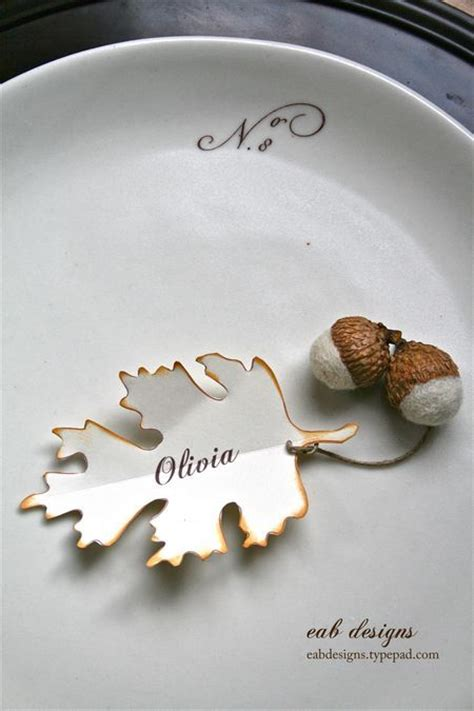 Thanksgiving Gift Card Holders - elegant fall place card happily ever after pinterest