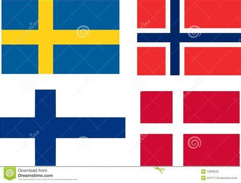 kerzenst nder d nisch markierungsfahnen skandinavien stockfotografie bild