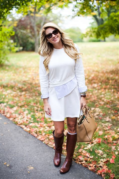 Preppy Home Decor outfit fall leaves sweater dress sale shop dandy