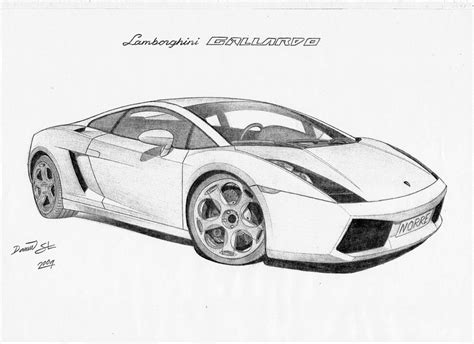 Drawings Of Lamborghinis Lamborghini Gallardo By Dsl Fzr On Deviantart