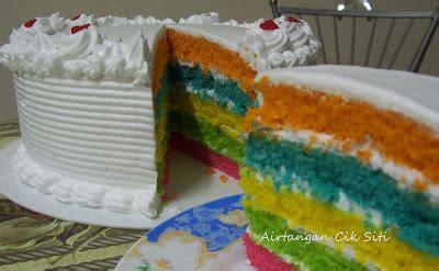 Kek Rainbow Cheese airtangan cik siti kek rainbow 2
