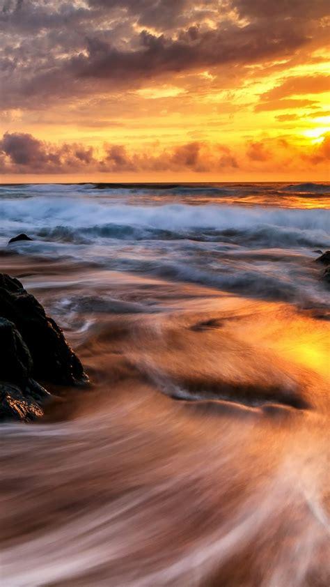 wallpaper sunrise ocean  nature