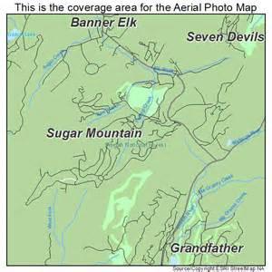 aerial photography map of sugar mountain nc carolina