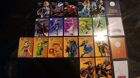 printable zelda amiibo cards complete all zelda amiibo cards set bundle 18 cards best