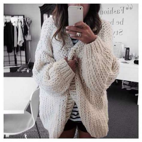 thick knit sweater how to knit a chunky knit cardigan yishifashion