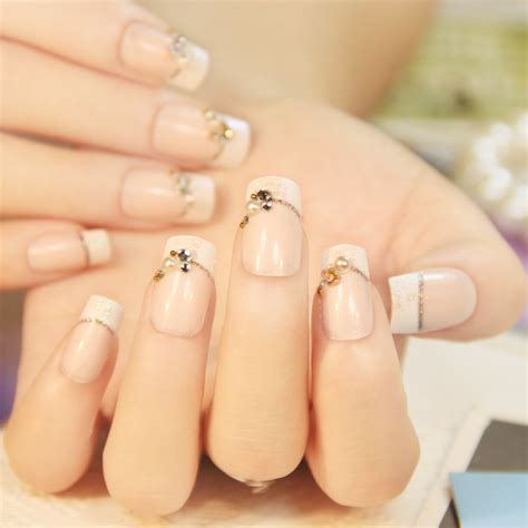 Speaking Of Healthy Nails by 24 Pcs Senior Wedding Nails Normal Length