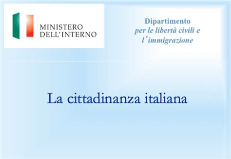 www ministero dell interno it cittadinanza cittadinanza