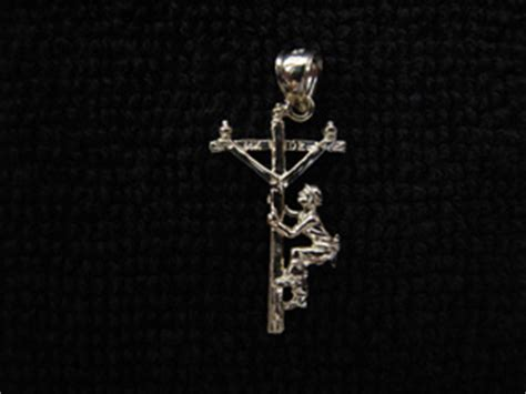 the linemans factory | lineman 14k gold pendant charm