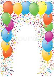geburtstag rahmen mit ballon und streamer element f 252 r