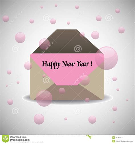 new year envelope happy new year envelope royalty free stock images image