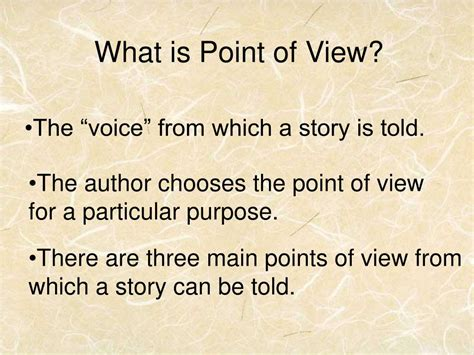 The Academic Point Of View by Ppt Point Of View A Collaboration By Glenwood Middle
