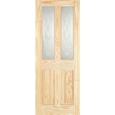 Interior Pine Doors Pine 4 Panel Burns Glazed Chislehurst Doors