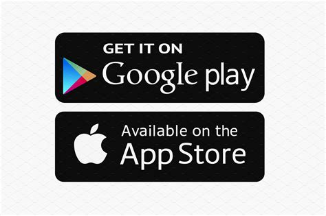 Play Store Logo Vector Apple Store Illustrations Creative Market