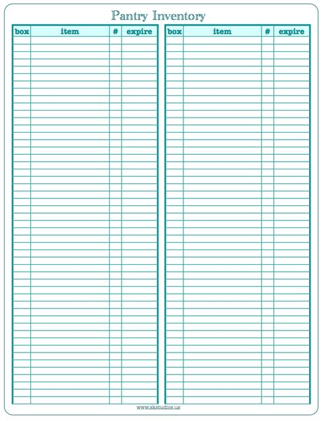 pantry inventory list template best photos of pantry food inventory template printable
