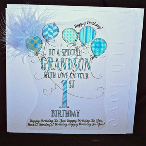 Birthday Card For Grandson 1st Birthday Large Cards Collection Karenza Paperie