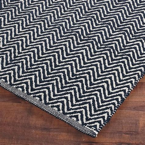 cotton flat weave rugs cotton chevron flat weave rug home decor