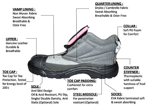 shoe section safety shoes product information