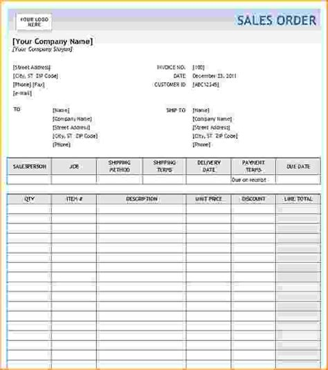 5 Order Form Template Excel Teknoswitch Sales Form Template Excel