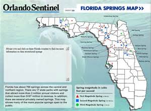 map of springs in florida springs saving our springs