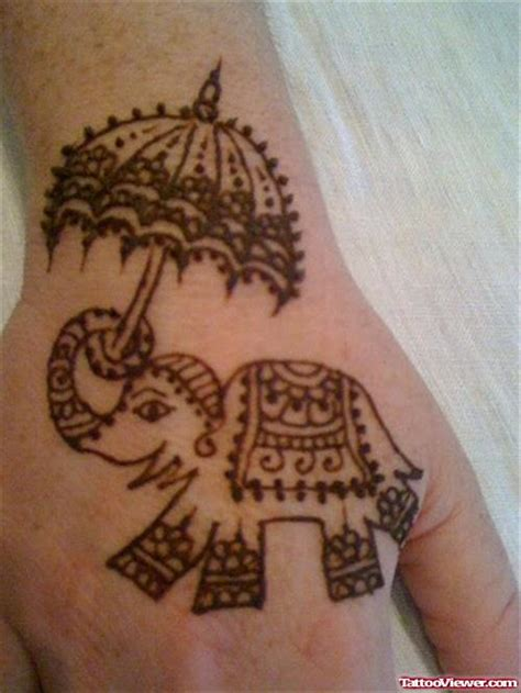 elephant henna tattoo on hand henna elephant makedes