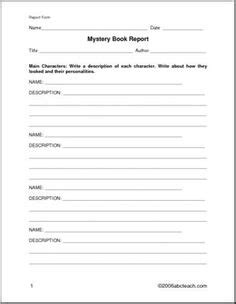 book report questions book report form non fiction elem middle a book