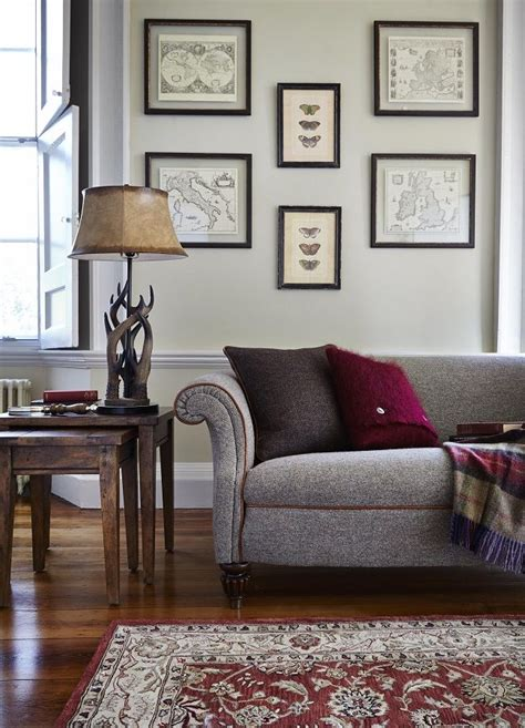 traditional living room sofas traditional living rooms large harris tweed sofa tartans