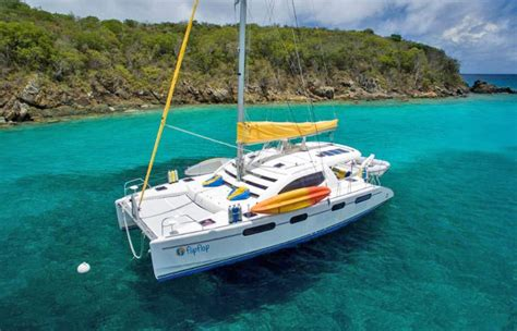 catamaran cruise st thomas flip flop crewed catamaran charter virgin islands view