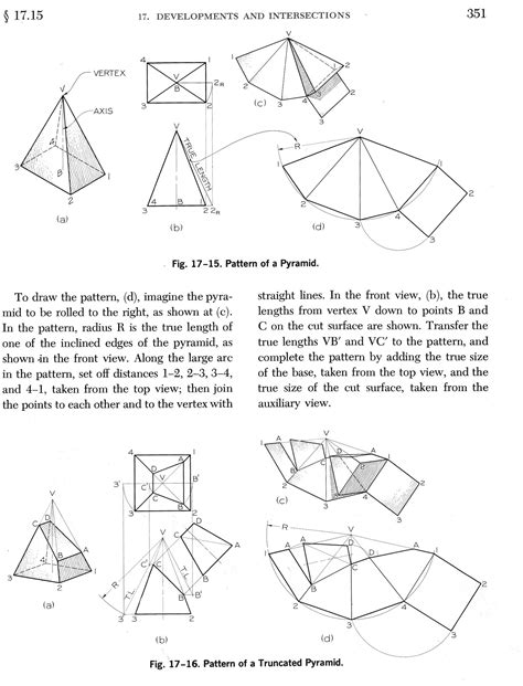 Pattern Development Drawing | mr bell s place mech homework drawings and assignments