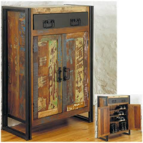 Hallway Storage Cabinet Agra Solid Reclaimed Wood Hallway Shoe Storage Cabinet Cupboard Ebay