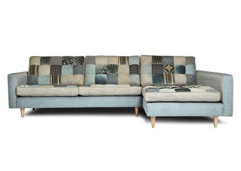 natural modern interiors recycled patchwork fabric sofas