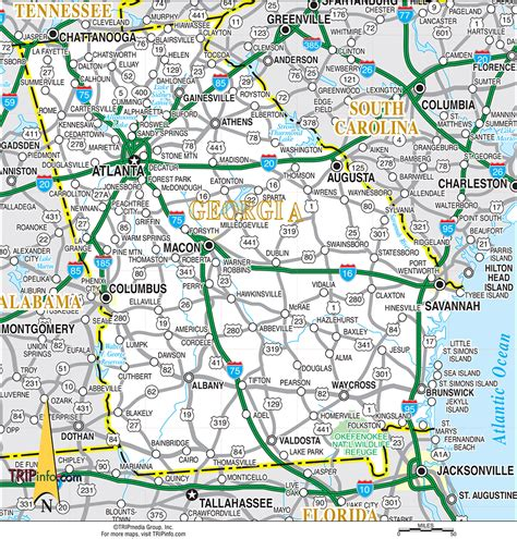ga map my perception about atlanta columbus health metro area ga page 2