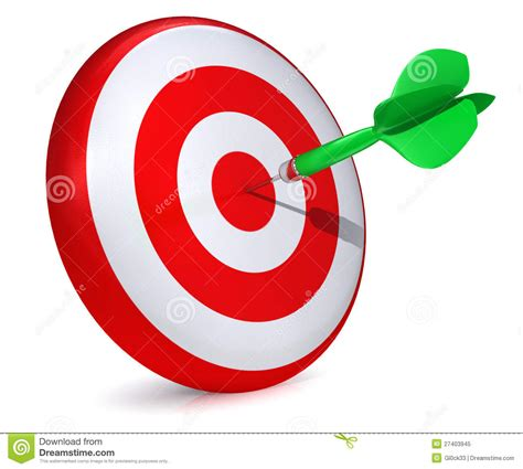 hitting a darts hitting a target stock illustration illustration of arrow 27403945