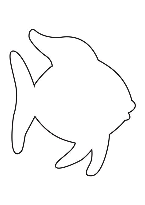 fish template rainbow fish template animals rainbow fish template