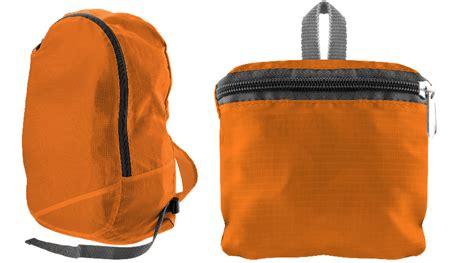 orange water resistant collapsible backpack zipper pocket inside ebay