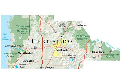 map hernando county florida citrus hernando waterways restoration council hernando