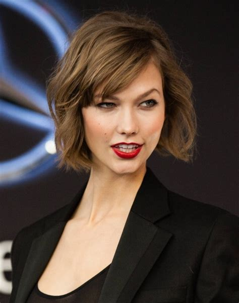 Karlie Kloss Haircut | 2014 karlie kloss short hairstyles wavy haircut for