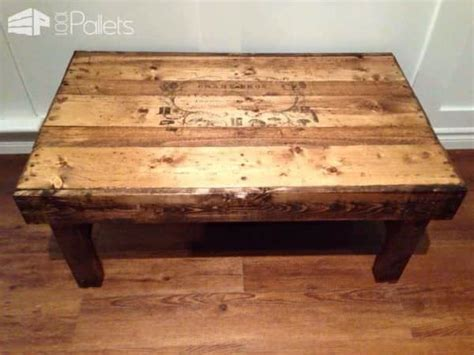Upcycled Coffee Table Coffee Table From Upcycled Pallets 1001 Pallets