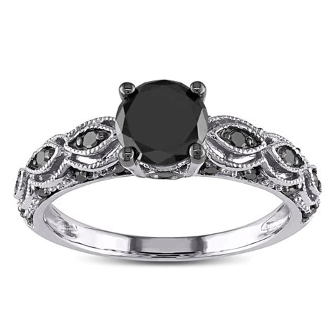10k white gold 1 1 4ct tdw black infinity