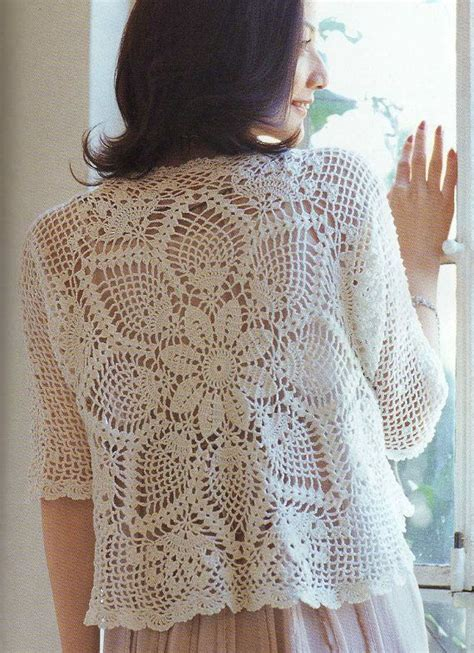 japanese knitting patterns crochet pineapple lace cardigan pattern japanese