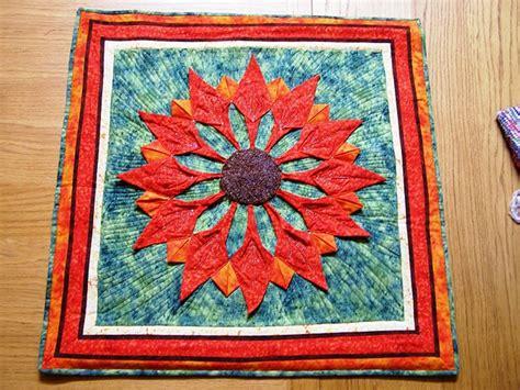 origami folded flower design quilt 96 best images about quilt origami on pinterest origami