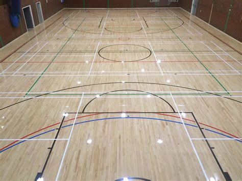 Basketball Flooring by Sports Court Markings For Sports Halls Line Marking Service