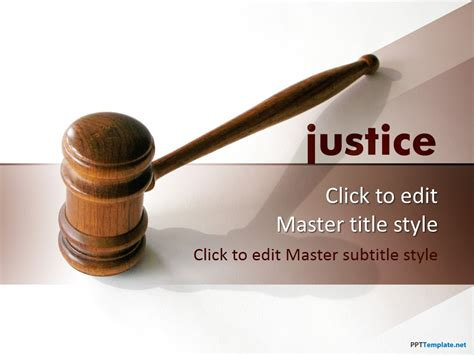 ppt themes law free justice ppt template