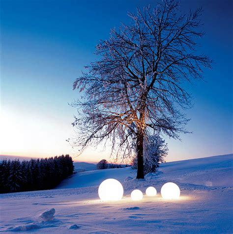 Outdoor Moonlight Globe Light Modern Outdoors Winter Solar Lights