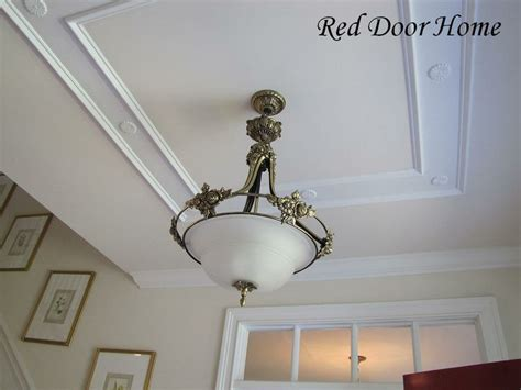 Diy Tray Ceiling I Like This Quot Faux Quot Tray Ceiling Effect Home Decorating
