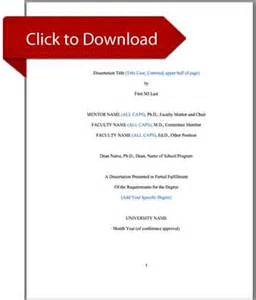 Ms Word Thesis Template by Thesis And Dissertation Templates