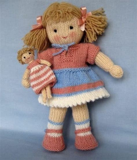 knit doll pattern 25 best ideas about knitted dolls on knitted